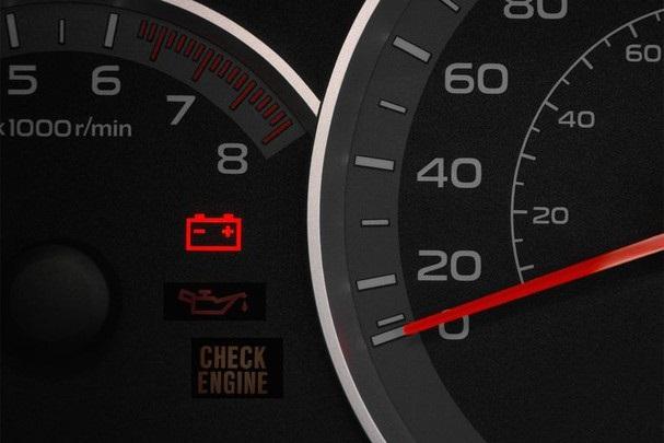Đèn cảnh báo chất lượng ắc quy kém bật sáng