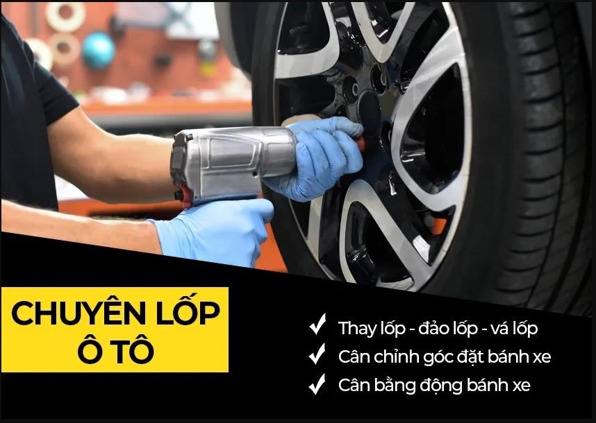 Khuyến mại thay lốp xe